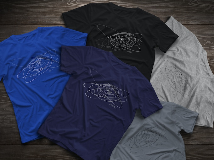 the T-shirt available in 5 colors