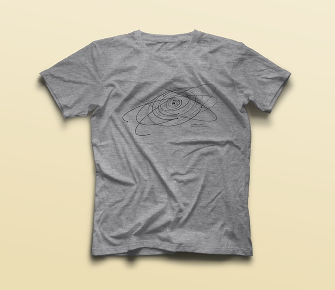 heather grey crew neck T-shirt - available in man, woman and kid fitted sizes