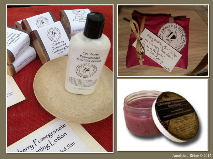 A few of the products made at Amalthea Ridge