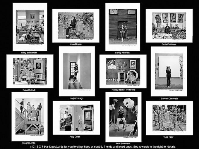 (12) 5X7 Women Artist Portcards. See rewards.