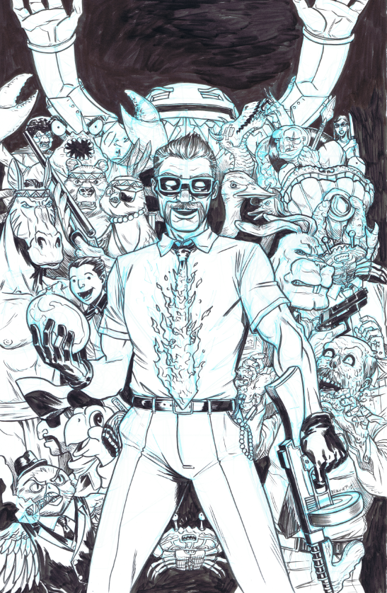 The original 11x17 cover drawing can be yours? Hell's yeah, it can!