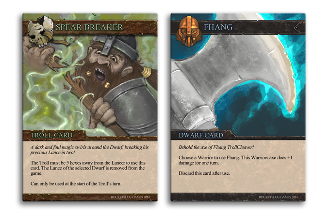 Dwarf and Troll card examples