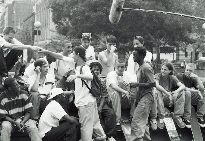 "Shooting ""Kids,"" 1994. Photo by Gunars Elmuts."