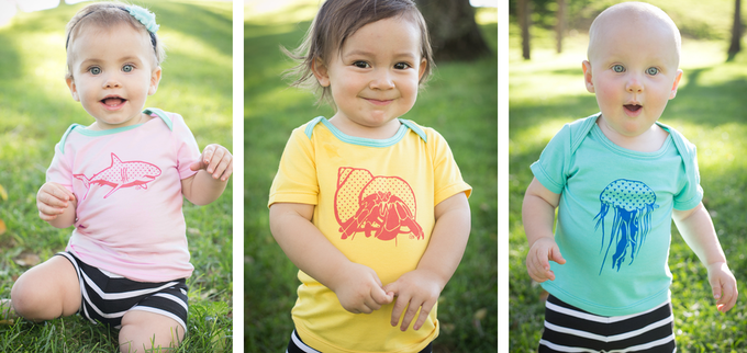 I Heart Sharks, Hermit the Crab and Tentacular Jelly Tees