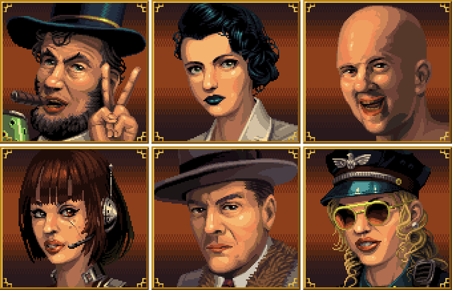 Tower 57 has 6 playable characters.