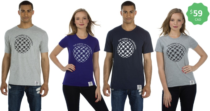 Made in Canada — Crew neck tees — Sizes s-xxl for men & xs-xxl for ladies