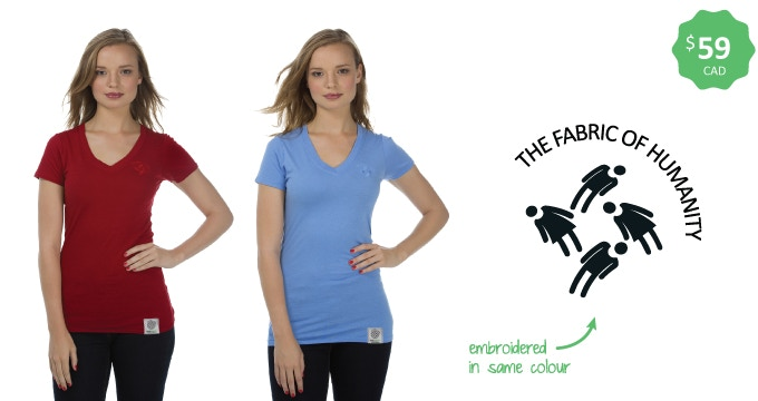 Made in Canada — Women's bamboo v-neck — Sizes xs-xxl