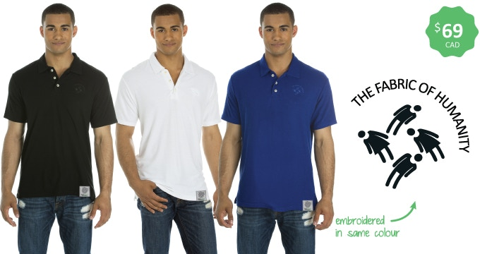 Made in Canada — Men's bamboo polo — Sizes s-xxl