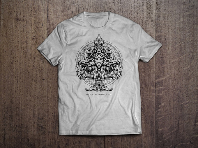 Black press on New Silver. All shirts for $22. (+$7 int)