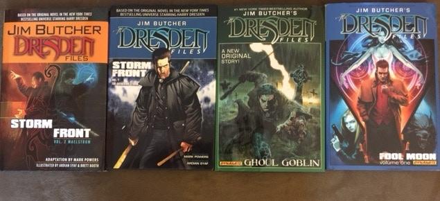 "Signed, hard back ""Dresden Files"" graphic novels from Jim Butcher"