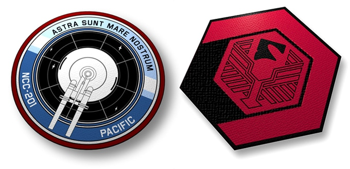 The Pacific and Romulan patch! These patches are 3.5 inches in diameter.