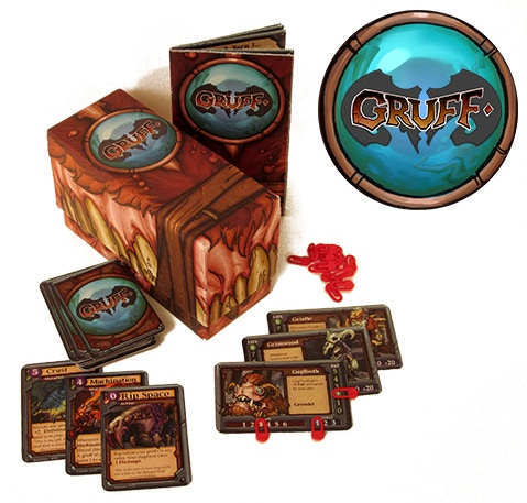 Gruff is a unique evolving card game where you will use your customized team of mutated monster goats to crush your enemies. For 2 to 4 players and plays in 20-45 min.