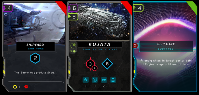 Currently we have 3 card types available in your deck.