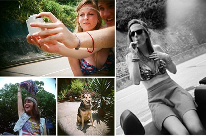 Actual photos taken by Holga Digital