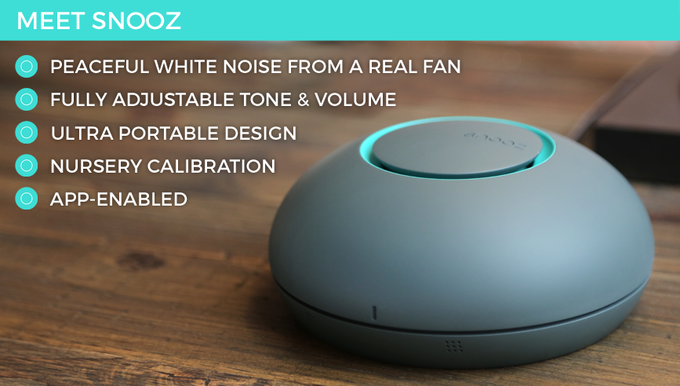 Snooz Is An Acoustic White Noise Machine That Helps You Fall Asleep And Stay Using A Proprietary Fan In Acoustically Optimized Enclosure