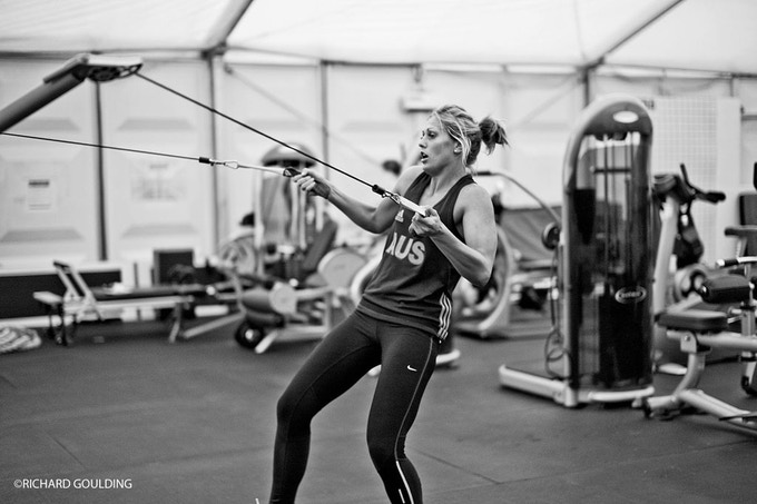 STRENGTH & CONDITIONING: Gemma Gibbons training at Dartford, a few days later she won Olympic silver at London 2012 (-78 kg)