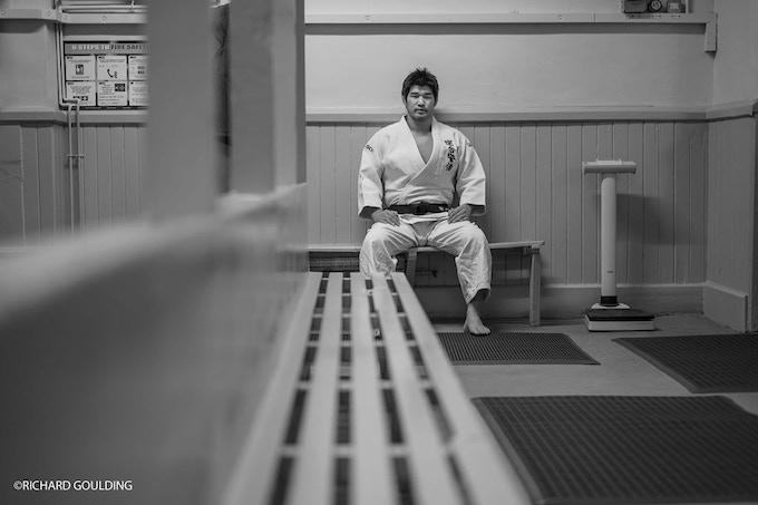 JUDO ROYALTY: Kosei Inoue, waiting before training at the Budokwai, London