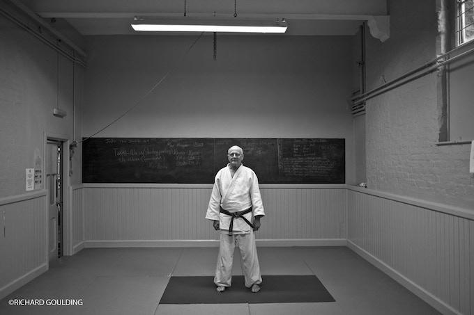 DOJO: Tony Sweeney after his Sunday morning class at the Budokwai, London 2012