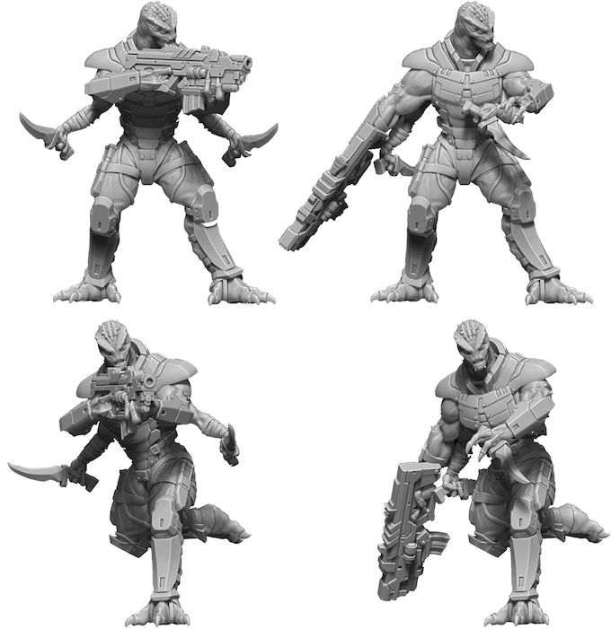 Nexus Grunts - Showing off the different posing options