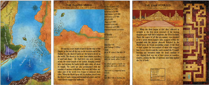 Map, Nation, and Point of Interest Cards (Front/Back)