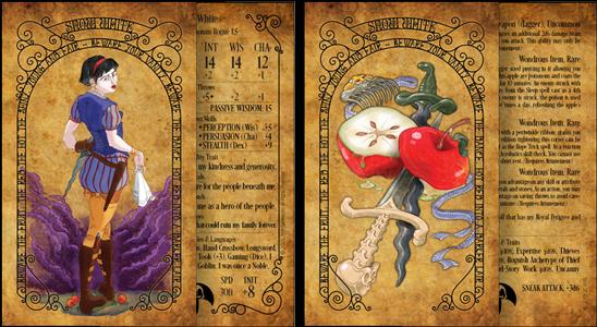Warrior Princess & Equipment Cards (Front/Back)