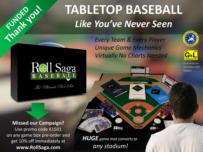 Baseball board game of action and strategy with the realism of individual stadiums on the tabletop! Ages 10 & up. 1 or 2 players.
