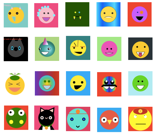 a collection of emojis students have made