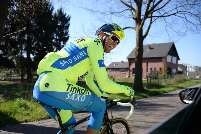 Tinkoff VIP cyclist using Velocomp product