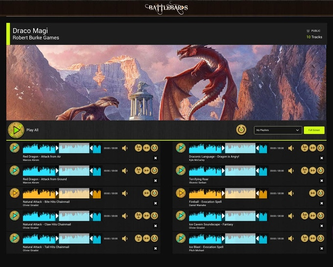 Example Soundboard Image (Not final tracks)