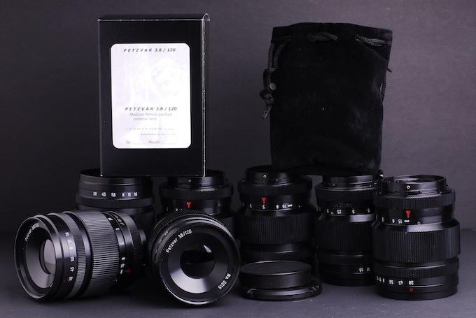 Petzvar 3.8/120 lenses