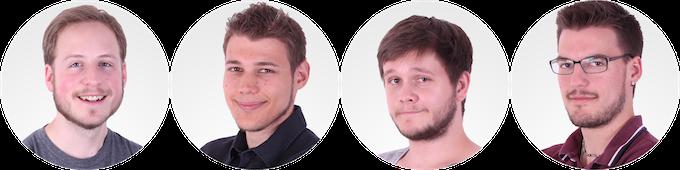 Fabian, Pascal, Pierre & Stefan (v.l.n.r.)