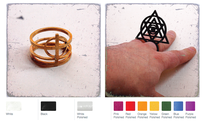 The Patient Zero Ring and the God Ring from Jeff Poulin's Conspiracy Wearables. Sizes 7, 10, and 12