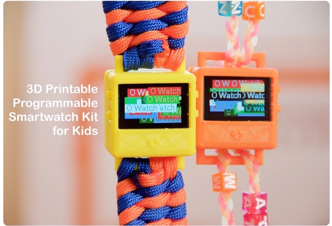 O Watch - A 3D Printable Smartwatch Kit for Kids by IoT4Kids