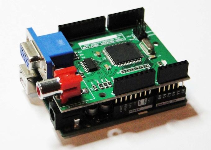 Vgaduino vga graphic shield for arduino with rgb av