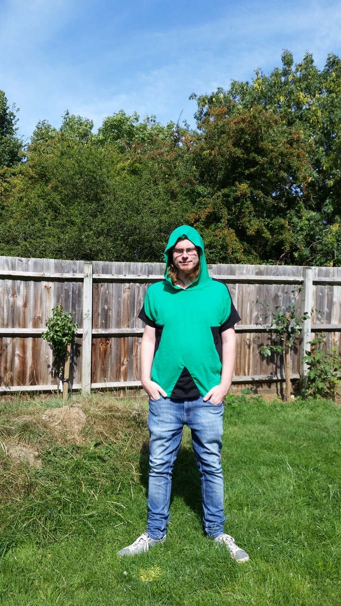 An early Uniform Human Meeple T-shirt Prototype