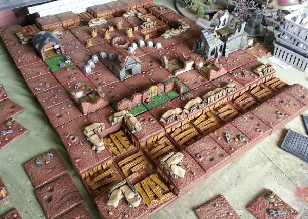 A ruined village, that church tower looks the perfect spot for a sniper don't you think?