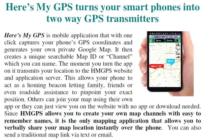 Here's My GPS creates private password protected Map Channels and allows you to use your phone like one way homing beacon or a two way GPS Walkie-Talkie
