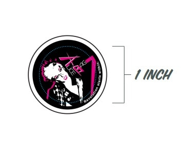 Alice Bag 1 inch button