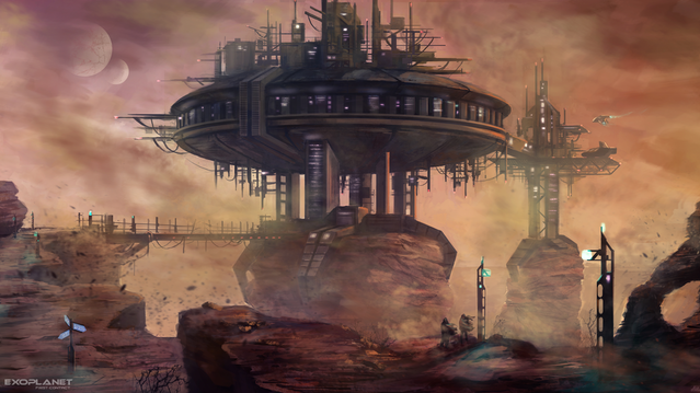 Terraform was investing tons of money into K'Tharsis. You still can find the traces of their enormous ambitions, rusting in the desert.