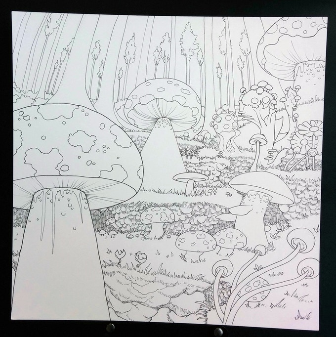 Legendary Landscapes Adult Coloring Book By Carrie And Witek