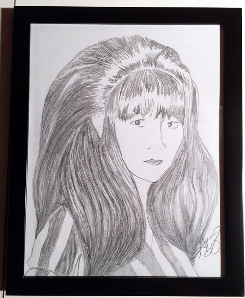 Dianne Chai, Alleycats - framed pencil sketch