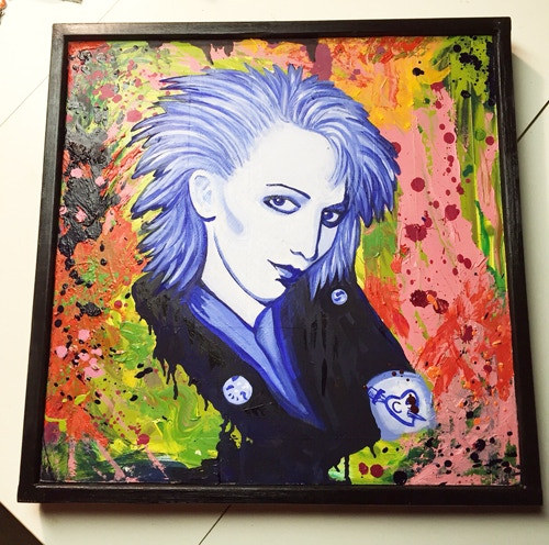 "Tiffany Kennedy, Castration Squad. Oil on canvas, framed. 19"" x 19"""