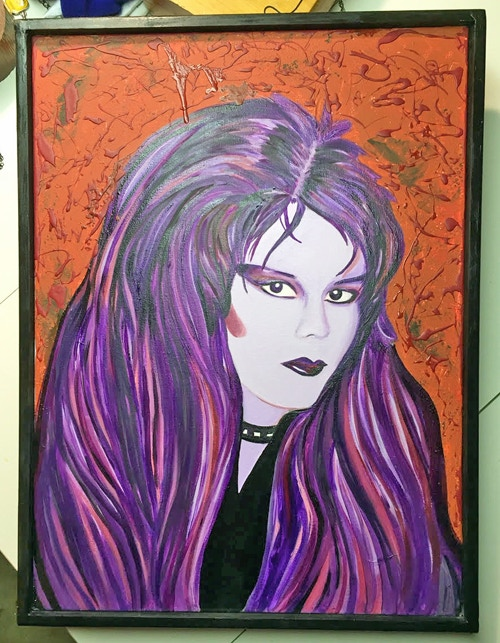 "Patricia, oil on canvas 19"" x 25"", framed"