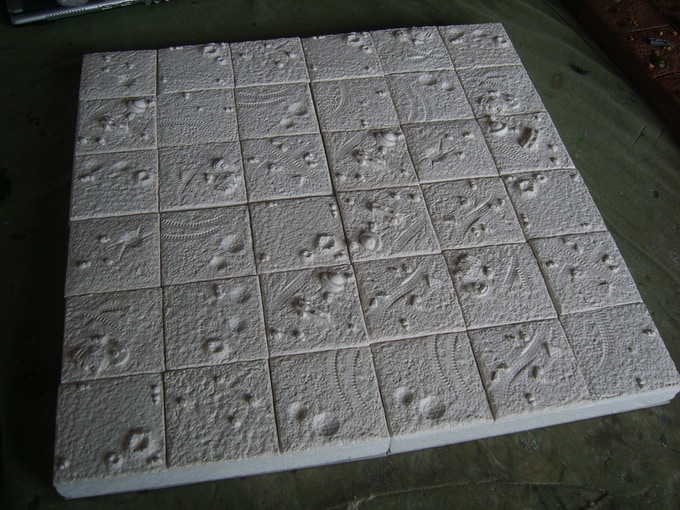 This is what a 2x2 board section would look like mounted on polystyrene