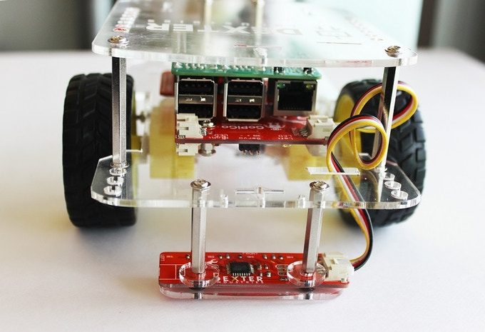 GoPiGo Raspberry Pi Line Follower Prototype