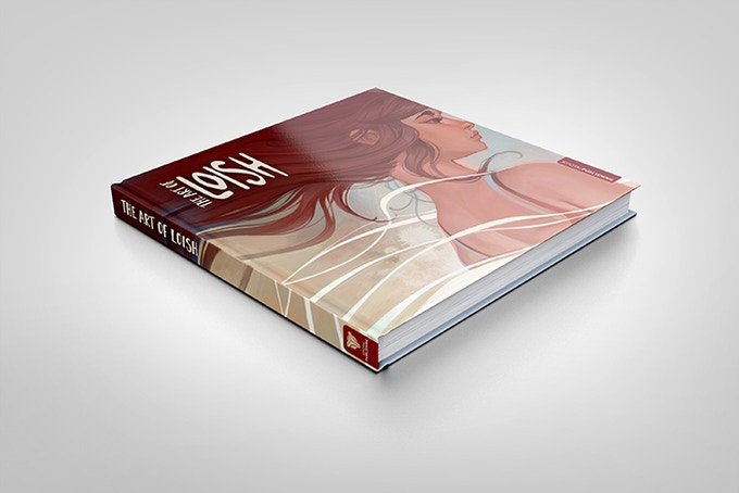 A mock-up of the Art of Loish book