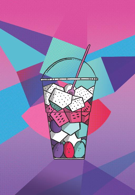 Fruit Cup print by Emilie Sarnel