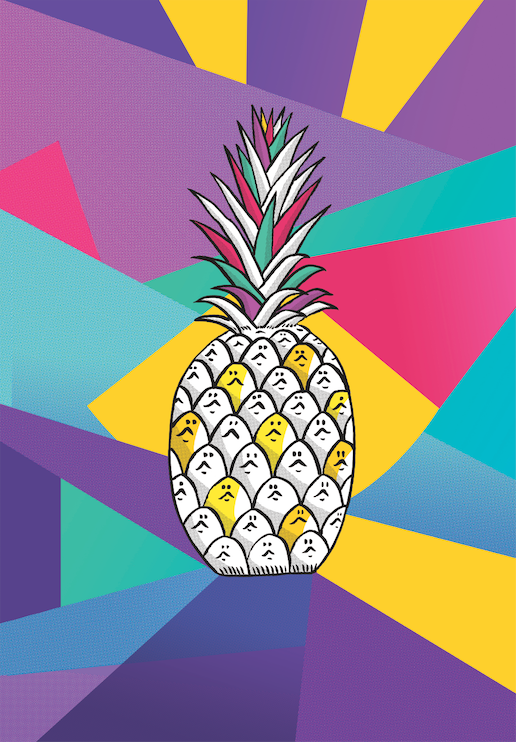 Pineapple Print by Emilie Sarnel