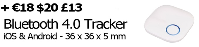 Bluetooth 4.0 tracker anti-lost for iOS & Android - Range of 50 M - 164 Ft