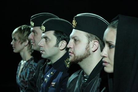 A scene from Sasha Janowicz' play The Kursk